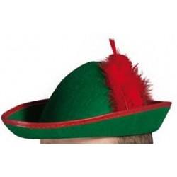 Chapeau Robin en Feutrine avec Plume