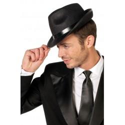Chapeau Borsalino en Feutrine Noir avec Bandeau