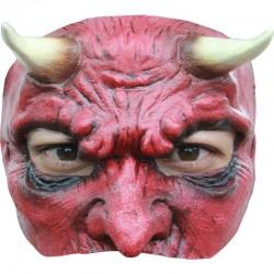Demi Masque de Diable en Latex