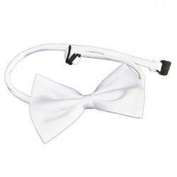Noeud Papillon Satin Blanc