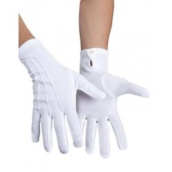 Gants Blanc Avec Bouton Pression Taille XL