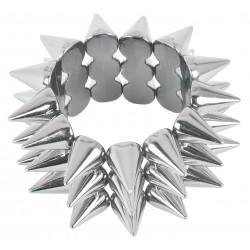 Bracelet Elastique Punk Argent