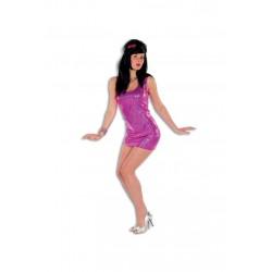 Déguisement Robe Disco Femme Fuschia