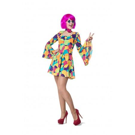 Déguisement Robe Hippie Disco - Taille 40