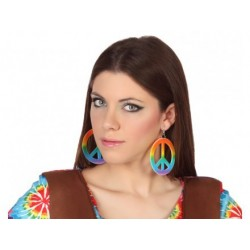 Boucles D'Oreilles Peace and Love Multicolore