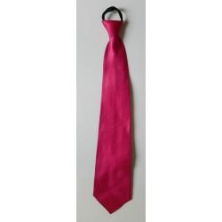 Cravate en Tissu Rose Fuchsia