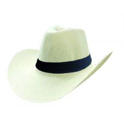 Chapeau de Cow Boy Tissé avec Bandeau Noir