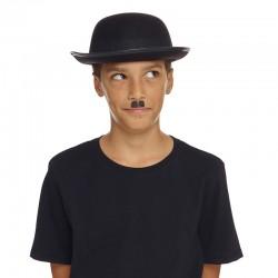 Chapeau Melon en Feutrine Noir, Taille Enfant
