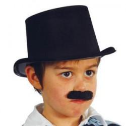 Chapeau Haut de Forme en Feutrine Noir, Taille Enfant