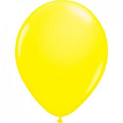 Ballons de Baudruche Fluo Jaune 50 Pièces