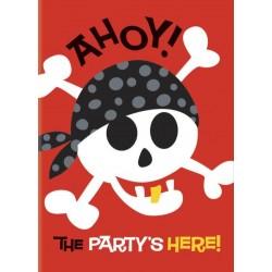 Cartes d'Invitation Anniversaire Pirate avec Enveloppes 8 Pièces