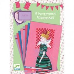Cartes D'Invitation Les Coquettes avec Enveloppes 8 Pièces- Djeco