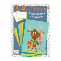 Cartes D'Invitation Chevaliers avec Enveloppes 8 Pièces - Djeco