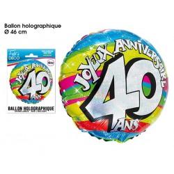 Ballon Hélium 40 Ans