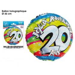Ballon Hélium 20 Ans