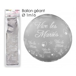 Ballon Géant ViveLes Mariés Argent