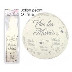 Ballon Géant Vive Les Mariés Blanc
