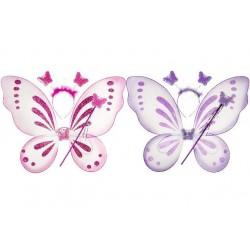 Ailes de Papillon avec Serre tête et Baguette