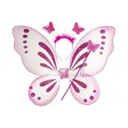 Ailles de Papillon Avec Serre Tête et Baguette