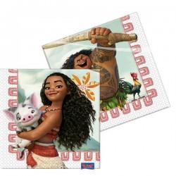 Serviettes en Papier Vaiana - Disney