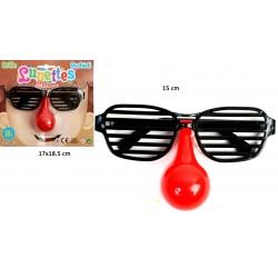 Nez de clown avec Lunette Grille