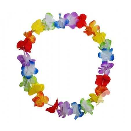 Collier de Fleurs Hawaï Multicolore