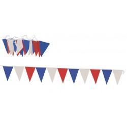 Guirlande Tricolore 10 Mètres Fanions Triangulaires