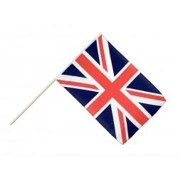 Drapeau Royaume Uni 14 x 21cm avec Bâton