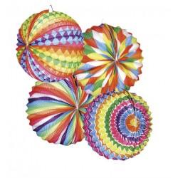 Lampions Ballons Multicolores 12 Pièces