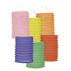 Lampions Cylindriques Couleurs Unies 12 Pièces