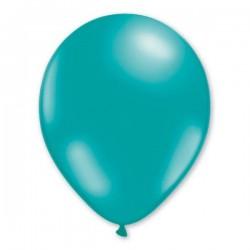 Ballons de Baudruche Métalliques Bleu Turquoise 100 Pièces
