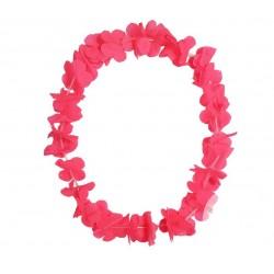 Collier de Fleurs Hawaï Fluo Rose
