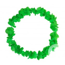 Collier de Fleurs Hawaï Fluo Vert