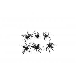 Décoration Halloween Araignées En Plastique 6 Pièces