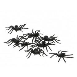 Araignée en Plastique 8 Pièces