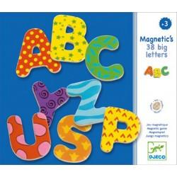 Lettres Magnétiques Fantaisies Majuscules 38 pièces - Djeco
