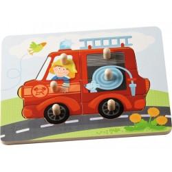 Puzzle à Encastrement Le Camion de Pompier - Haba