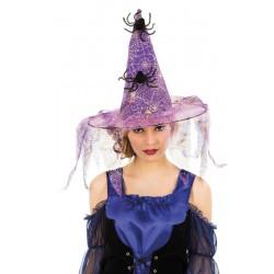 Chapeau de Sorcière en Lambeau Violet