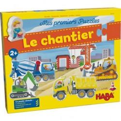 Mes Premiers Puzzles Les Engins de Chantiers - Haba