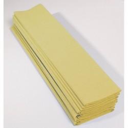 Feuille de Papier Crépon 60pourcent Jaune Paille